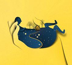 by Eiko Ojala Graphisches Design, Paper Design, Paper Cutting, Eiko Ojala, Canson, Cardboard Art, Paper Illustration, Paper Artwork, Graphic Design Inspiration
