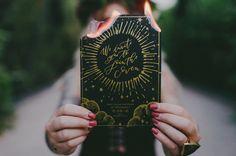 gold and black invitation