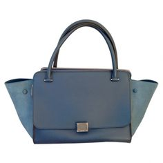 CELINE blue trapeze bag
