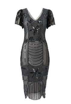 UK12 US8 Black Multi Vintage inspired 1920s Vibe by Gatsbylady, £55.00   Would look great at a Vintage wedding