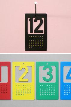 Cut Out Number Calendar. Back for 2013!
