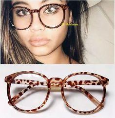 armação óculos arredondado geek retrô leopardo.