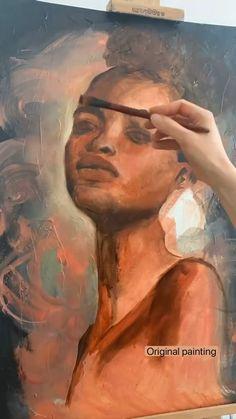 Oil Painting Portraits, Art Painting Gallery, Portrait Art, African Art Paintings, Elephant Art, Love Art, Watercolor Art, Art Projects, Art Drawings