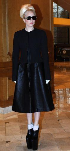 0d297623f3 Lady Gaga leaving her hotel in Seoul