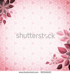 Vintage vignette with flower corners, pink. An ancient background with an abstract gentle pattern. Basis for design or text.