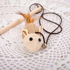 Aste Palo di legno di Canapa Topi Mouse Stuzzicare Gatti Giocattolo di Legno di Modo Ambientale di Alta Qualità Giocattoli Da Compagnia