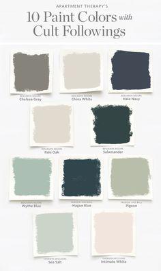 10 paint colors with cult pursuits Choosing a color can be overwhelming. 10 paint colors with cult pursuits Choosing a color can be overwhelming . Best Paint Colors, Interior Paint Colors, Paint Colors For Home, House Colors, Interior Design, Magnolia Paint Colors, Best Bedroom Paint Colors, Office Paint Colors, Green Paint Colors