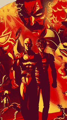 One Punch Man, Characters, Wallpaper One Punch Man Heroes, One Piece Deviantart, One Punch Man Manga, Deal With The Devil, Man Wallpaper, Skullgirls, Man Character, Epic Art, Anime Artwork