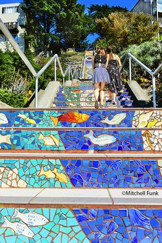 16th Avenue Tile Steps In Inner Sunset, San Francisco By Mitchell Funk  www.mitchellfunk.com