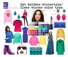 """Het heldere wintertype/ Clear winter color type."" By Margriet Roorda-Faber, Style Consulting."