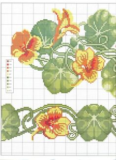 Image result for nasturtium cross stitch