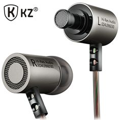 KZ ED4 fone de ouvido Metal Stereo Noise Isolating In-ear Earphone Music Audifonos Auriculares fone de ouvido DJ gaming headset