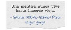 Sófocles (495AC-406AC) Poeta trágico griego.  #citas #frases