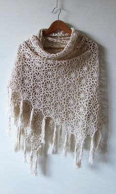 Solstice Shawl Crochet pattern by Katya Novikova Shawl Crochet, Crochet Wrap Pattern, Crochet Scarves, Crochet Clothes, Knit Crochet, Shawl Patterns, Knitting Patterns, Crochet Patterns, Crochet Phone Cases