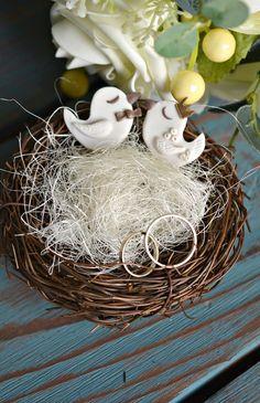 Nest For Wedding Rings 'Love Birds'   Гнездышко для обручальных колец «Влюбленные птички»