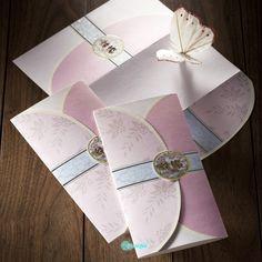 Korean wedding invitation rose
