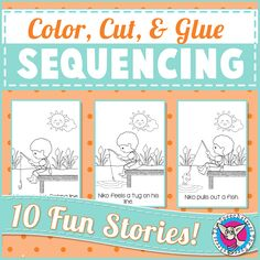 Sequencing, Retell, and Listening Comprehension Activities for Pre-K through 2nd Grade!