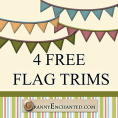 """Free """"Fresh"""" Digital Scrapbook Flag Banners *** Join 2,100 people. Follow our Free Digital Scrapbook Board. New Freebies every day."""