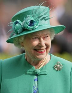 The Queen at Ascot Racecourse to observe the King George Race 21 July 2012