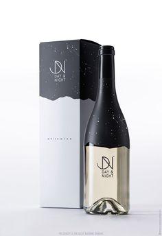 Day&night wine label design