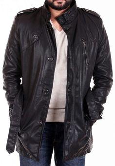 Leather overcoats www.thegstreet.com