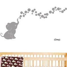 Dumbo Nursery - Elephant Bubbles Nursery Wall Decal Set (Grey) Stickyzilla http://smile.amazon.com/dp/B00FI1H4XM/ref=cm_sw_r_pi_dp_CKpUtb1E9X8213CV