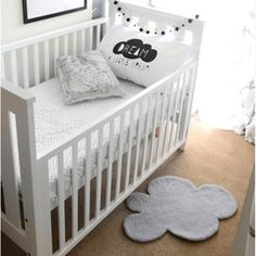 We have these fab new pillow cases and Cloud Felt rugs online now! Perfect monochrome and cloud accessories : ) #ThisModernLife #Clouds #MOdernNursery #MonochromeKidsRoom #KidsInspo
