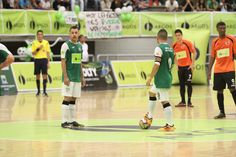 Momentos antes del pitazo inicial de la final de la Liga Argos Futsal 2016-1.