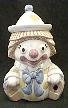 Vintage Treasure Craft Clown Cookie Jar
