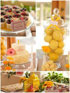 Sunshine Birthday Party with TONS of ideas! Found via Kara's Party Ideas