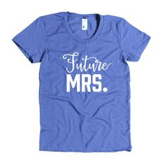 Future Mrs, Bachelorette party short sleeve t-shirt.