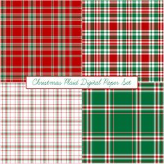 Free Christmas Plaid Digital Paper Set from Just Peachy Designs. Digital Scrapbook Paper, Digital Paper Free, Papel Scrapbook, Free Paper, Digital Papers, Digital Backgrounds, Christmas Scrapbook Paper, Christmas Paper, Tartan Christmas