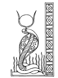 Wadjet A Cobra Head Figure Of Ancient Egypt Paharoh Coloring Page : Wadjet    A Cobra Head Figure Of Ancient Egypt Paharoh Coloring Page.
