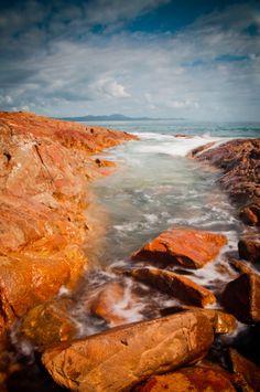 South west Rocks ,Sea and Rocks .Australia.