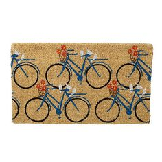 Company Store Spring Coir Doormat – Going To Market Bicycle Decor, I Spy Diy, Bicycle Print, The Company Store, Gloss Paint, Coir Doormat, Triangle Pattern, Welcome Mats, Home Improvement Projects