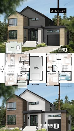 budget friendly cottage scandinave – Home office design layout Sims 4 House Plans, House Layout Plans, Dream House Plans, House Layouts, Home Plans, Garage House Plans, Sims House Design, Modern House Design, Casa Kardashian