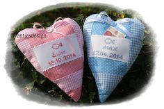 Geldgeschenk mit Name Taufe Geburt Herz  von Antjes Design auf DaWanda.com