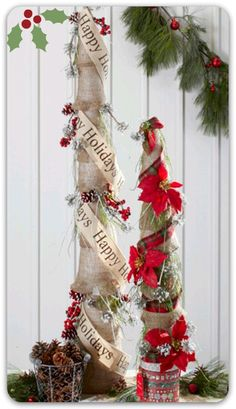 #Burlap wrapped trees :) #holidays