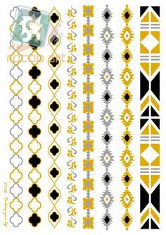 014fddc52 VT310/New 2015 beauty metallic temporary gold and silver fake flash flower bracelet  tattoo sticker