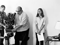Sofia Coppola behind the scenes of Somewhere