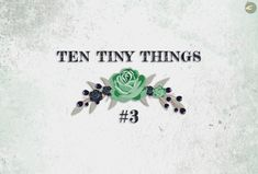[ARTICLE] Ten Tiny Things #3