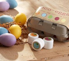 Here is an eco-friendly Easter Egg Coloring Kit with dyes made from organic fruit, plant and vegetable extracts.