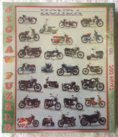VINTAGE HONDA HISTORY MOTORCYCLES OF JAPAN JIGSAW PUZZLE 500 PIECES NEW UNOPENED