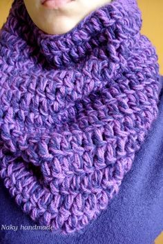crocheted scarf-cowl