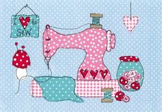 I Love to Sew! This would be so cute on the wall of my sewing room! Sewing Room Decor, My Sewing Room, Sewing Rooms, Love Sewing, Sewing Spaces, Applique Patterns, Applique Quilts, Embroidery Applique, Quilt Patterns