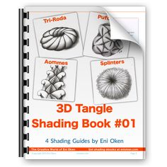 Eni Oken's 3D Tangle Shading Book #01
