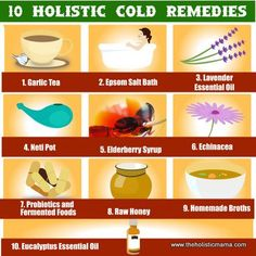 10 All Natural Remedies for Colds by theholisticmama.com #holistic #health