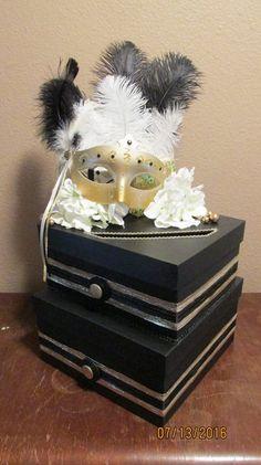 2 Tiered Wedding Shower Birthday Party Masquerade Gift