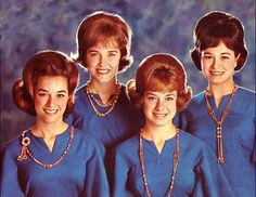 The Lennon Sisters made their singing TV debut in 1955 on Lawrence Welk's old-fashioned variety show with sixteen-year-old Dianne (Dee Dee), fourteen-year-old Peggy, twelve-year-old Kathy, and nine-year-old Janet Lennon on board.