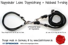Hundehalsband-Doppelstrang-Lederleine-SPRENGER-HAKEN-5